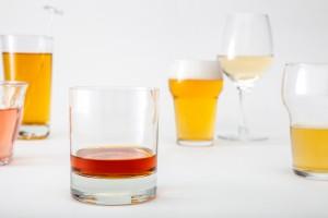 Verschillende glazen alcohol